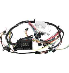 restoparts wiring harness dash 1966 chevelle el camino warning lights console [ 1500 x 1500 Pixel ]