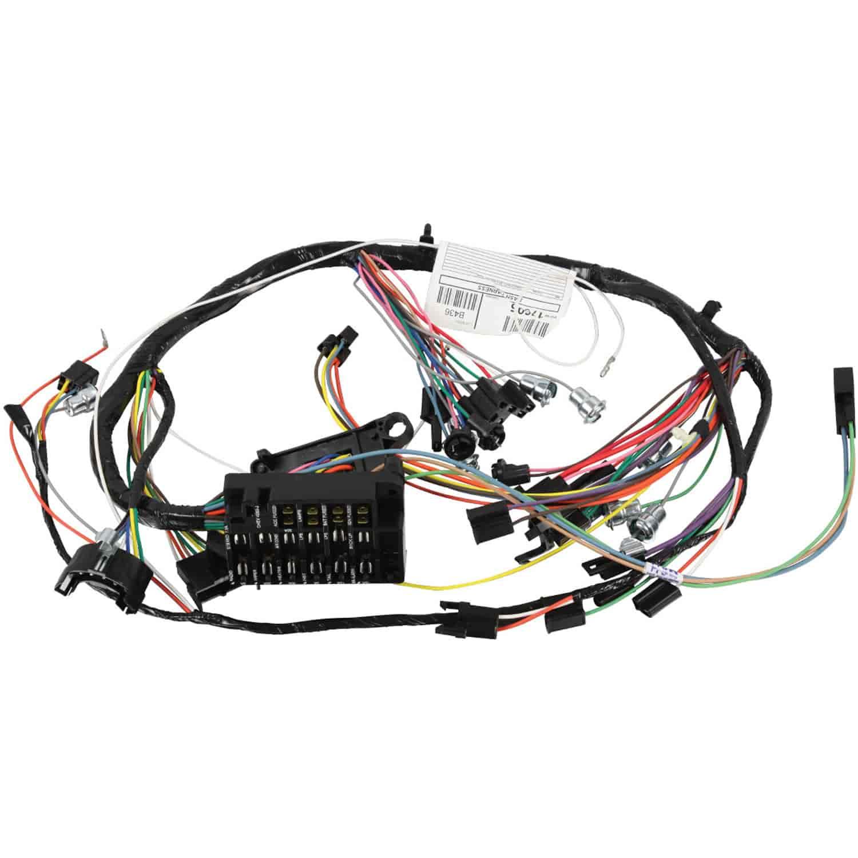 hight resolution of restoparts wiring harness dash 1966 chevelle el camino warning lights console restoparts 17605