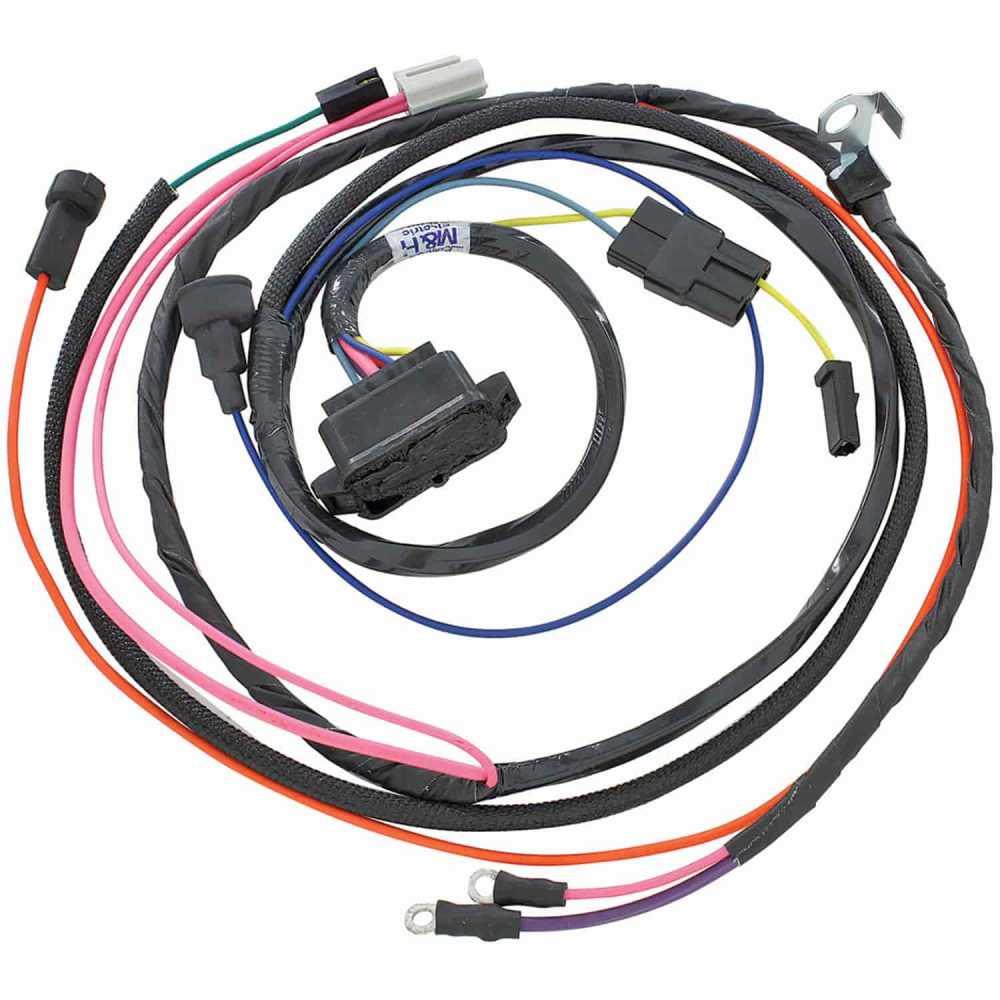 medium resolution of restoparts wiring harness engine 1966 chevelle el camino 396 hei warning lights restoparts 38955