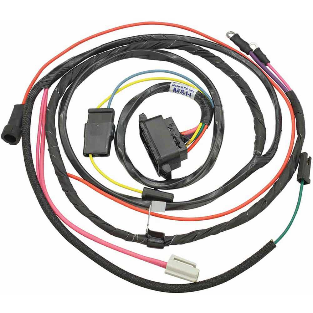 medium resolution of restoparts wiring harness engine 1966 chevelle el camino 327 shp hei gauges restoparts 39040
