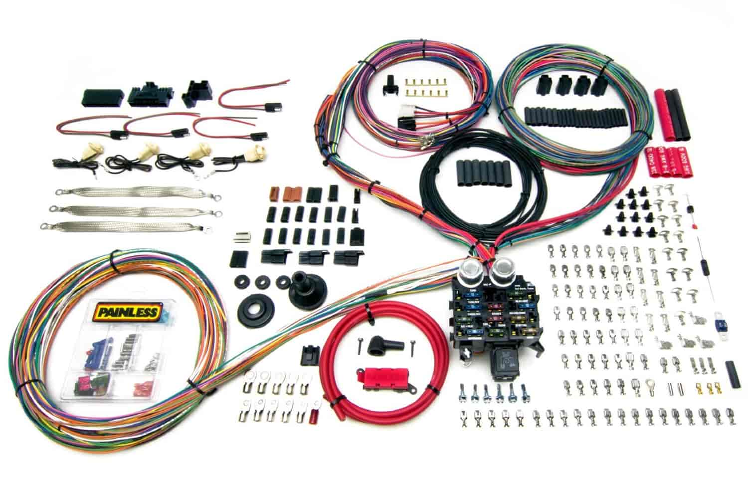 hight resolution of painless performance products 10401 pro series 23 circuit wiring painless wiring harness kit