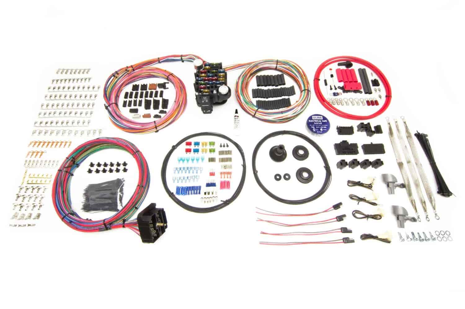 hight resolution of painless performance products pro series 25 circuit wiring harness kit