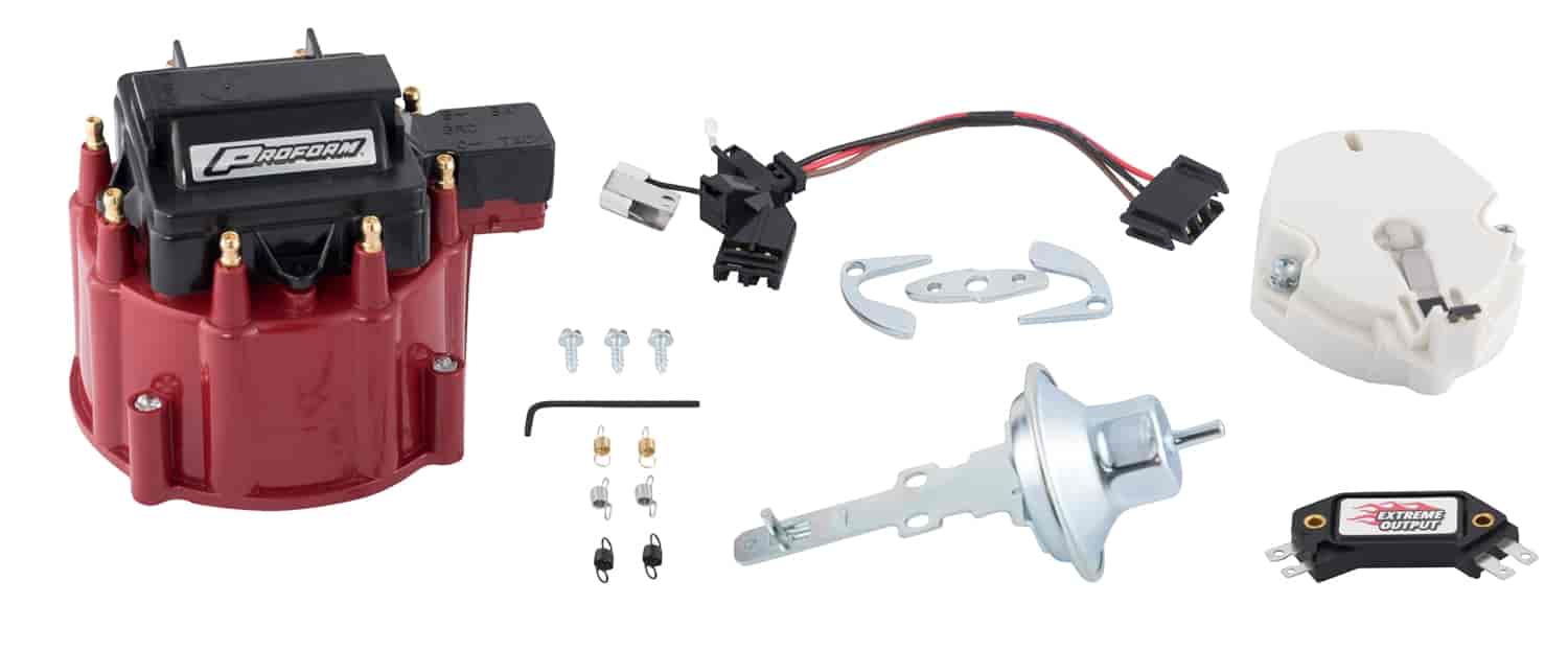 chevy hei distributor wiring diagram vw transmission parts proform 66945rc: tune-up kit for gm v8 with red cap | jegs