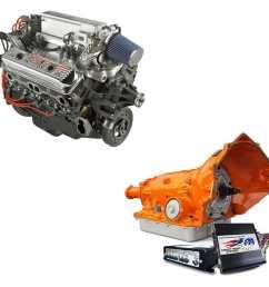 chevrolet performance ram jet 350 engine and 4l60e trans kit [ 1500 x 1500 Pixel ]