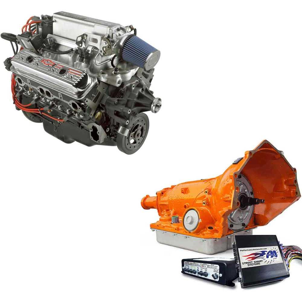 medium resolution of chevrolet performance ram jet 350 engine and 4l60e trans kit