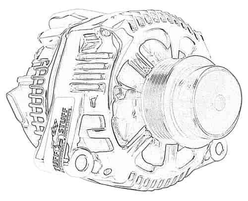 Tuff Stuff 7723NB: Alternator 1997-00 Corvette 2001