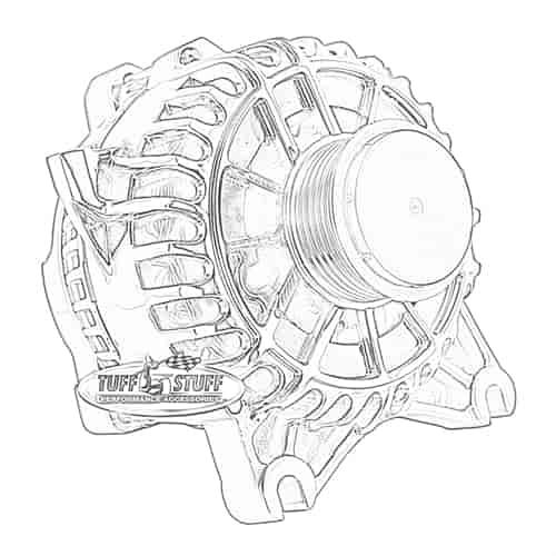 Tuff Stuff 8438: Alternator 2005-08 Mustang 4.6L V8 135