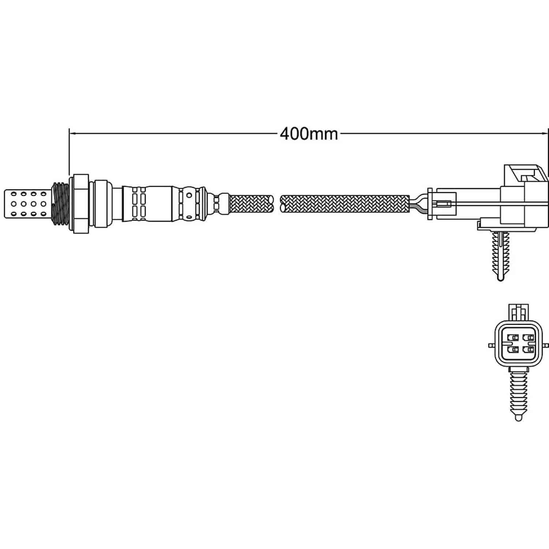 hight resolution of walker products o2 oxygen sensor walker products 250 24269