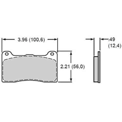Wilwood 150-9136K: BP-10 Brake Pads Calipers: Wilwood DL w