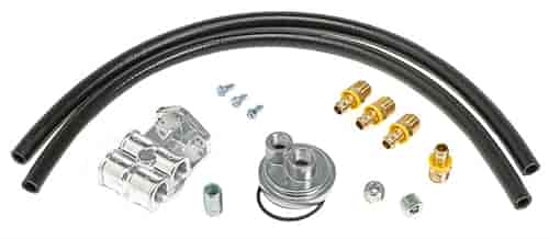 Trans Dapt 1520: Single Oil Filter Relocation Kit GM V8