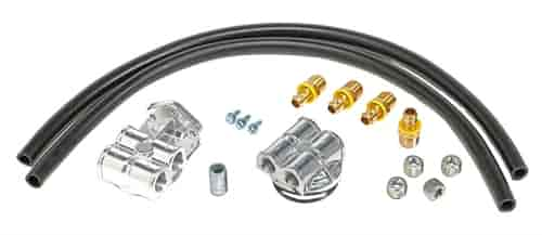Trans Dapt 1813: Single Oil Filter Relocation Kit Ford