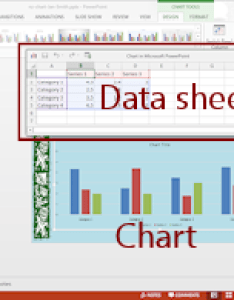 Default chart with matching sample data in an excel spreadsheet powerpoint also tables  charts advanced jan  working presentations rh jegsworks