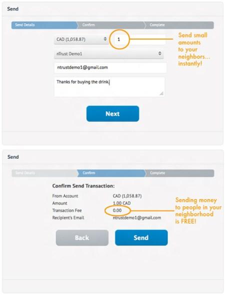 nTrust Send Money Screenshot