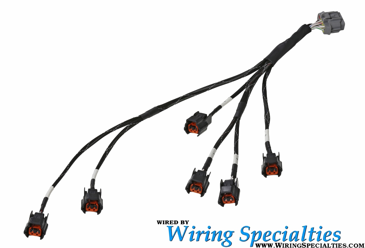 hight resolution of wiring specialties z32 vg30de tt new style injector sub harness oval w