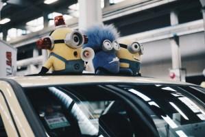 Minions in a car