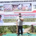 Bupati Tapsel Ajak Masyarakat Huta Ginjang Menjadi Duta Wisata Desa
