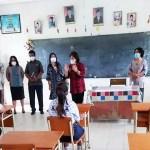 Bupati Karo Tinjau Simulasi Pembelajaran Tatap Muka