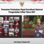 Buka Rakornas Pengendalian Inflasi 2021, Presiden Jokowi Ajak Bersyukur