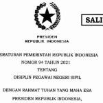 Inilah Ketentuan Hukuman Disiplin Bagi PNS Sesuai PP 94/2021