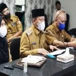 Plt Wali Kota Ikuti Rakor Monev MCP Bersama KPK RI Secara Virtual
