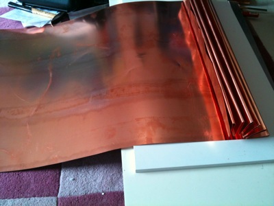 copper sheet folding