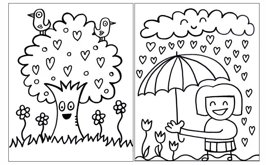 Children's coloring books pdf, hurricane preparedness week