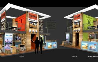 World Travel market Texas Tourism Exhibition Design