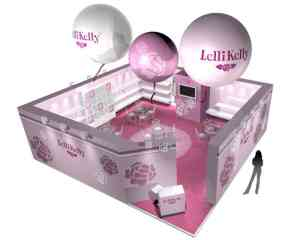 Exhibition stand design Lelli Kelly shoes