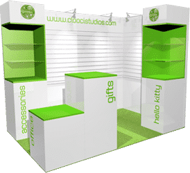 Exhibition stand design conceptual 3D visuals