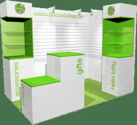 Exhibition stand design conceptual 3D visuals