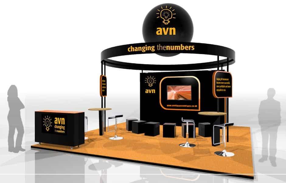 Exhibition Booth Uk : Avn accountex trade show exhibition stand design agency