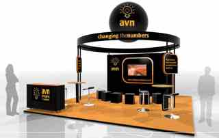 avn accountex modular exhibition stand