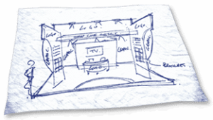 3d exhibition stand sketches 3d computer rendering designs