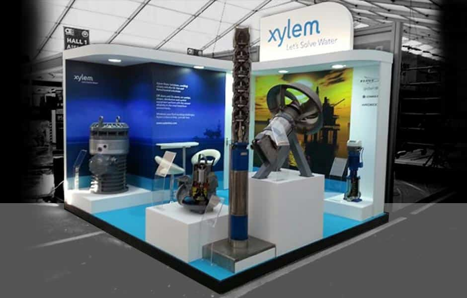 Exhibition Stand Europe : Xylem water solutions off shore europe aberdeen scotland