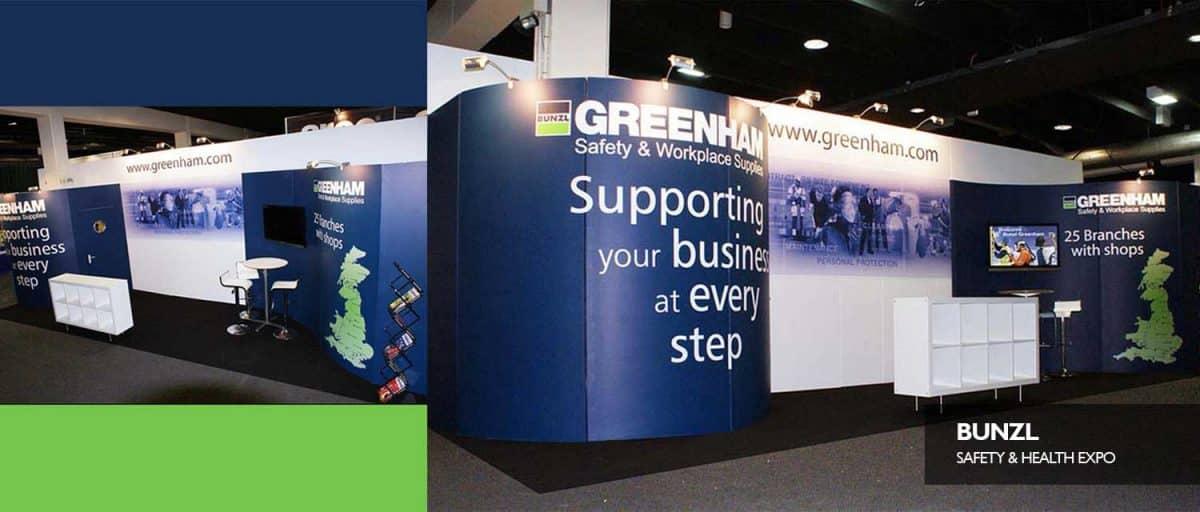 Exhibition stand Bunzl Greenhams