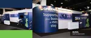 Exhibition stand Bunzl Greenhams
