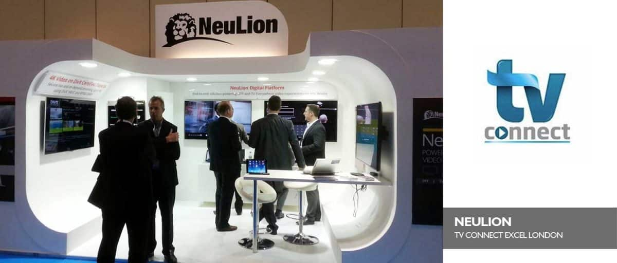 NeuLion Exhibition Booth TV Connect London Excel