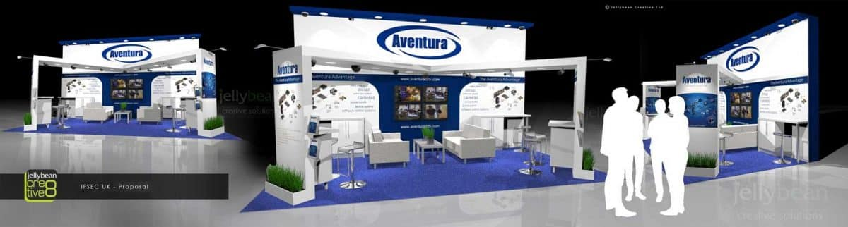 Exhibition Stand Design Agency : Aventura security systems ifsec international show excel