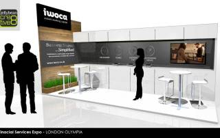 IWOCA Finance Professional Exhibition Stand Design