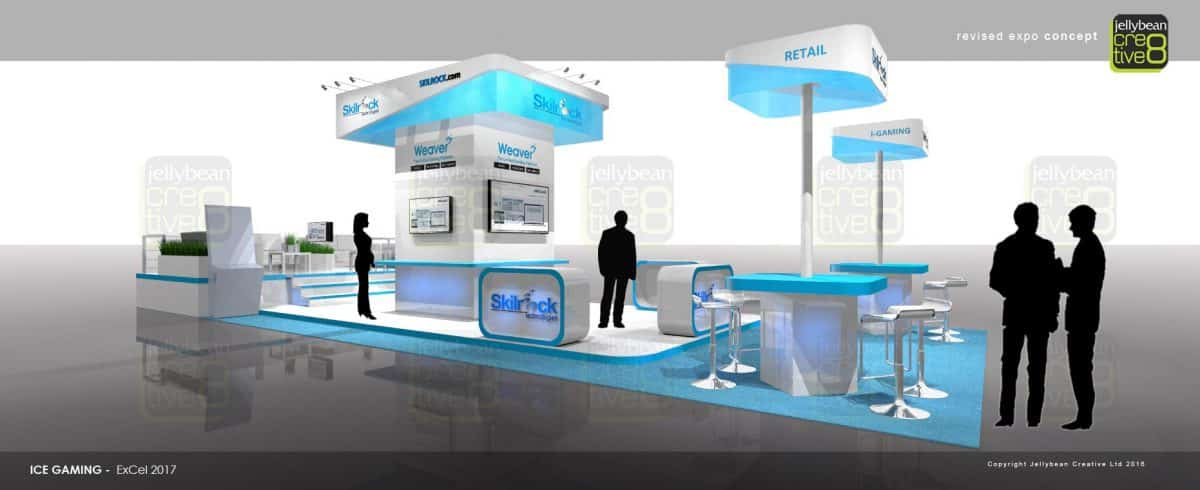 Exhibition Stand Builders London : Ice totally gaming exhibition stand design skilrock