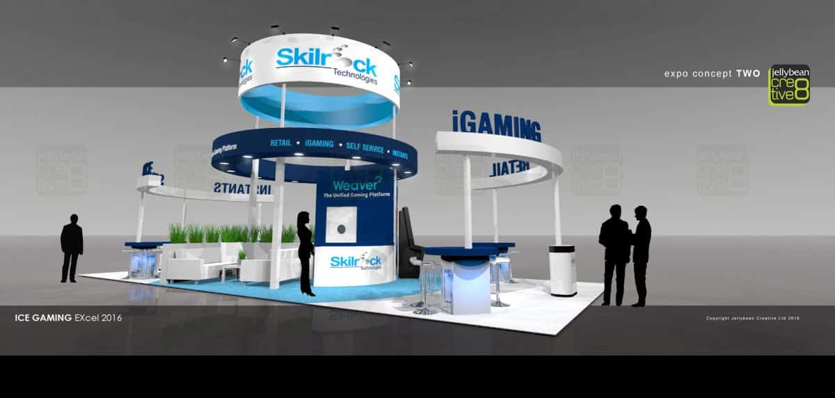 Exhibition Booth Design Uk : Skillrock ice totally gaming exhibition stand design