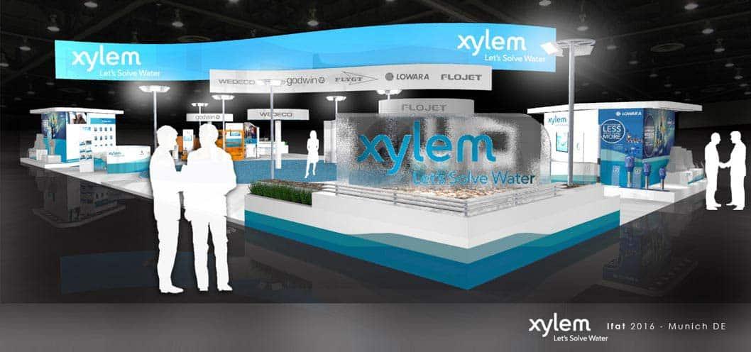Exhibition stand design Xylem-water-ifat-munich