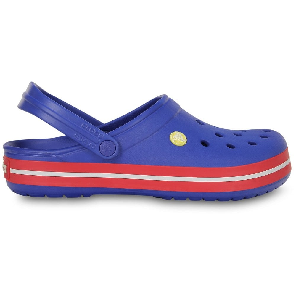 Crocs Crocband Shoe Cerulean Blue/Pepper. All the comfort of a Classic but with a Retro look - Women from Jelly Egg UK