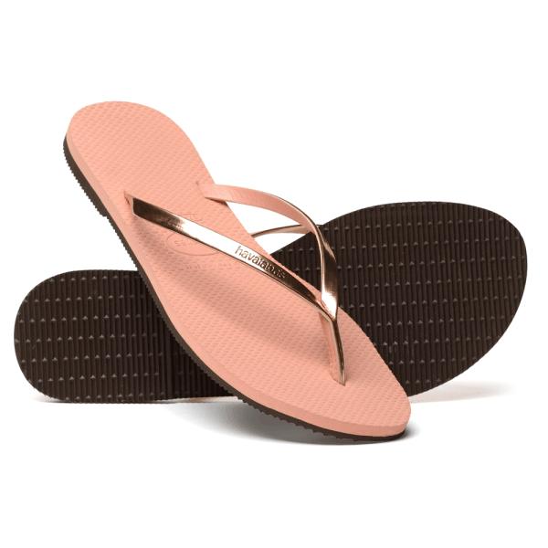 Havaianas Metallic Light Pink Thin And Elegant Flip