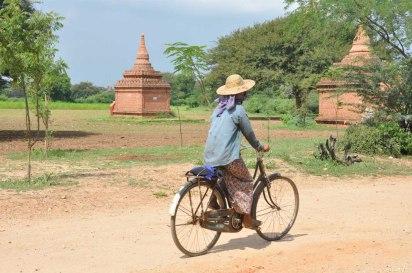 Cycliste local birman