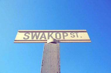 Panneau à Swakopmund