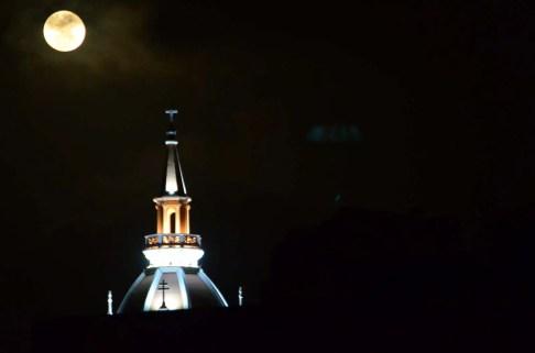 Toit de la cathédrale de Cartagène Colombie
