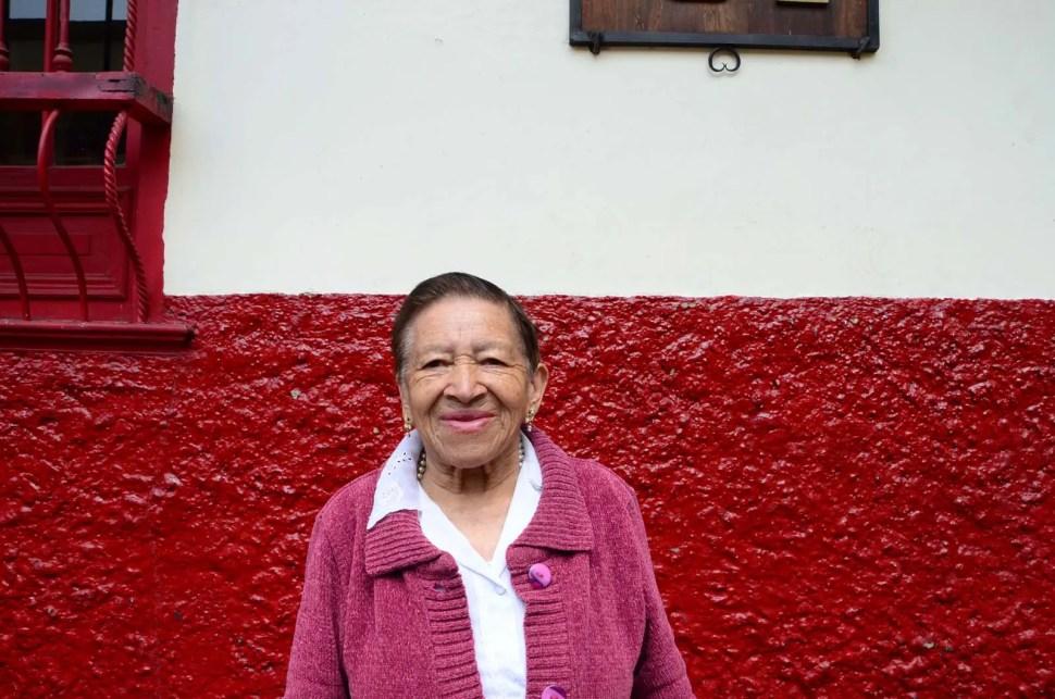 Teresa rencontrée à la Candelaria de Bogota