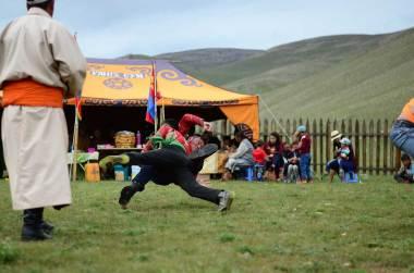 Tournois de lutte mongol