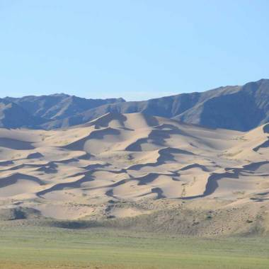 Lever de soleil sur les dunes